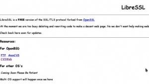 Die Webseite von LibreSSL ist noch im Entstehen.