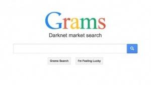 Screenshot der Suchmaschine Grams