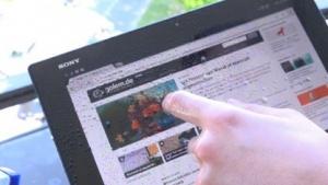 Dem Xperia Z2 Tablet macht Regen nichts aus.