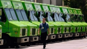 Trucks von Amazon Fresh bei Los Angeles