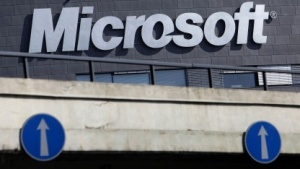 Microsoft-Logo in Prag