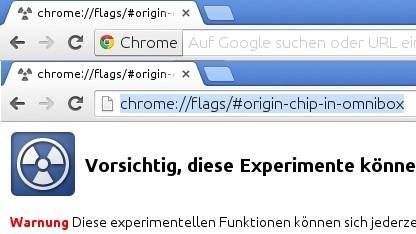 Alte und neue Darstellung der URL-Zeile