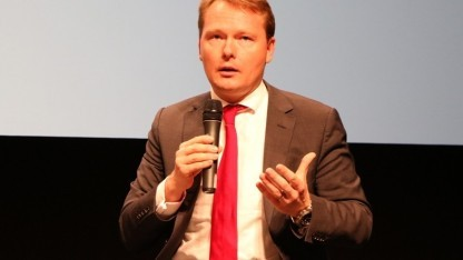 Der SPD-Abgeordnete Christian Flisek auf der Re:publica 2014