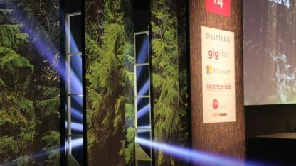 """""""Into the wild"""": Das Motto der Re:publica ließ sich wenigstens optisch gut inszenieren."""