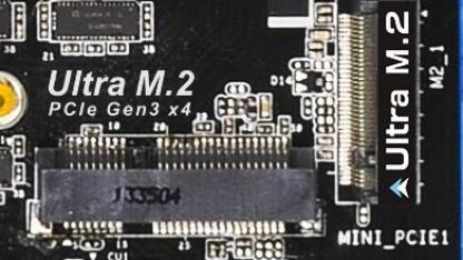 Die Ultra-M.2-Schnittstelle des Z97 Extreme6
