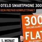Otelo-Tarif: 300 Freieinheiten und 300-MByte-Flatrate für 9 Euro