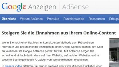 Google: Sammelklage gegen Adsense
