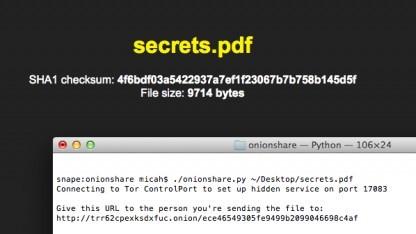 Onionshare soll das Filesharing im Tor-Netzwerk erleichtern.