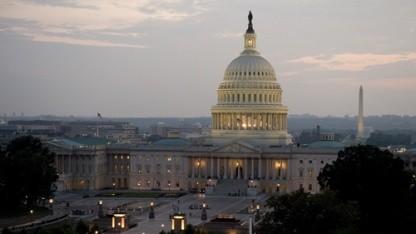 Das Kapitol in Washington, D.C., Sitz von Repräsentantenhaus und Senat