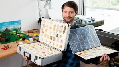 Leonhard Oschütz mit seinen Tinkerbot-Baukästen