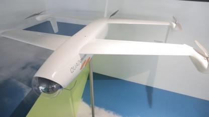 Airbus zeigt nur ein 1:1-Modell des Quadcruisers auf der Ila 2014.