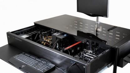 Das DK-02X mit Mini-ITX- und HPTX-Board