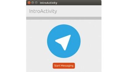 Mit NDR erstellte Telegram-App für Ubuntu