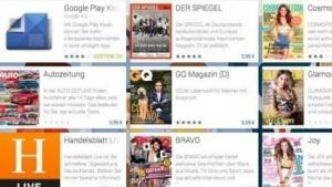 Google Play Kiosk mit deutschen Publikationen