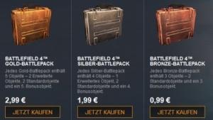 Battlepacks gibt es in drei Varianten für einen bis drei Euro.