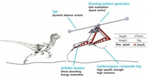 Laufroboter Raptor: nur ein Motor pro Bein