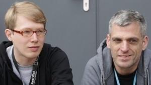 Lennart Poettering (links) und Kay Sievers