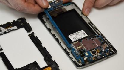 Das LG G3 erhält gute Noten in der Reparierbarkeit.