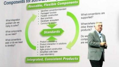 IBM-Softwarechef Steve Mills auf der Innovate-Konferenz