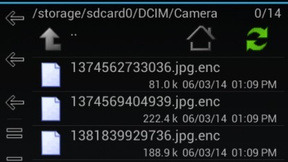 Ransomware für Android verschlüsselt Dateien.