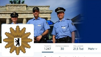 Die Berliner Polizei setzte in 24 Stunden über 1.000 Tweets um.
