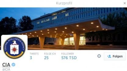 Die CIA hat ein Twitter-Konto eröffnet.