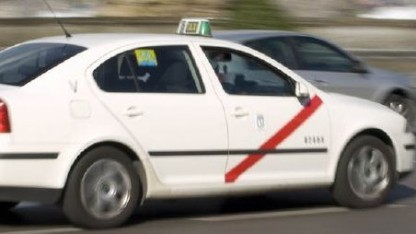 Taxifahrer in Madrid