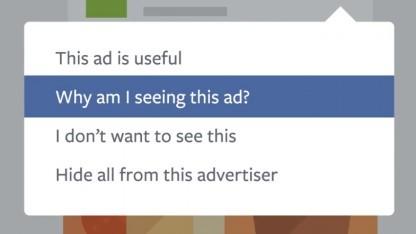 Facebook gibt seinen Nutzern mehr Kontrolle über Werbeanzeigen.
