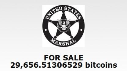 Das United States Marshals Service versteigert Bitcoins im Wert von fast 13 Millionen Euro.