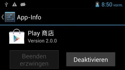 Die gefälschte Google Play Store App des N9500