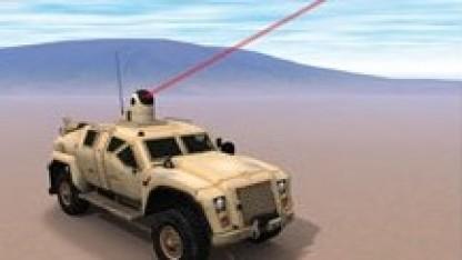Laserwaffe auf einem Humvee: erste Tests in diesem Jahr
