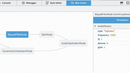Die Knoten im Web-Audio-Editor von Firefox 32