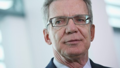 "Innenminister Thomas de Maizière setzt auf ""Hilfe zur Selbsthilfe""."