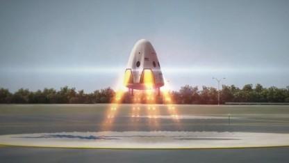Raumfähre Dragon V2: landen, auftanken, wieder starten