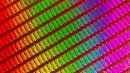 Ein Wafer mit Haswell-Chips, der vorletzten Prozessorgeneration
