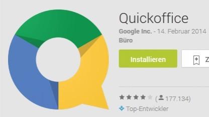 Quickoffice gibt es bald nicht mehr im Play Store.
