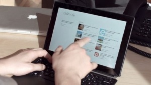 Mit dem Schenker Element kann dank Tastaturcover auch gearbeitet werden.