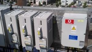 Vodafone-Basisstation an der Warschauer Straße in Berlin