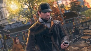Watch-Dogs-Hauptcharakter Aiden Pearce hackt meistens mit seinem Smartphone (Bild: Ubisoft), Watch Dogs