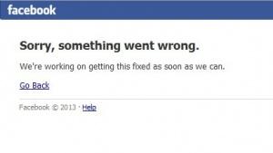 Facebook war nicht erreichbar