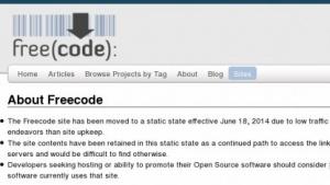 Freecode.com wird nicht mehr aktualisiert