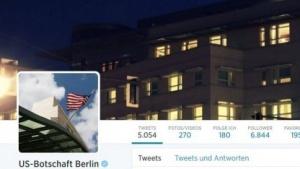 Auf Twitter wirbt die US-Botschaft für positive TTIP-Projekte.