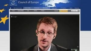 Edward Snowden beantwortet Fragen im Europarat.