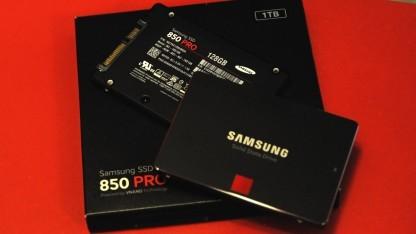 Die kleinste und die größte: Die 850 Pro gibt es von 128 GByte bis 1 TByte