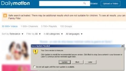 Dailymotion-Nutzer wurden mit einem Exploitkit angegriffen.