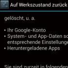 Android: Zurücksetzen löscht Daten nur unvollständig