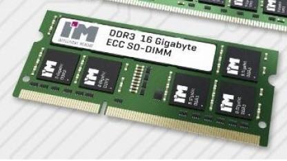 Die 16-GByte-Module bestehen aus 16 Chips mit je 8 Gigabit