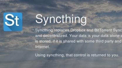 Syncthing synchronisiert über ein eigenen P2P-Netzwerk.