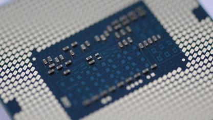 Unterseite eines gesockelten Haswell-Prozessors