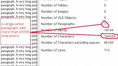 Ein Monsterabsatz in Libreoffice Writer 4.3